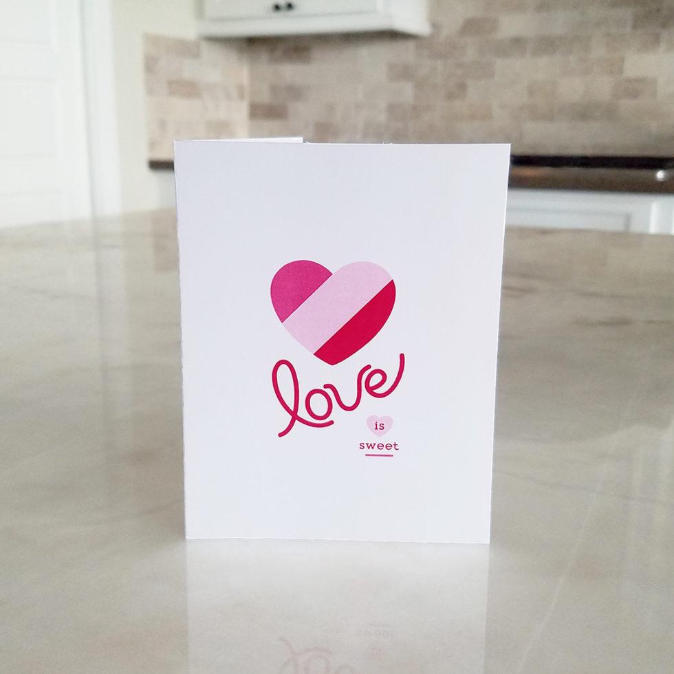 Note Card - Love is Sweet