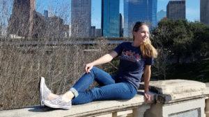Houston Skyline Patchwork T-shirt