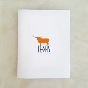 Texas orange longhorn note card