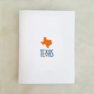 Texas Orange Note Card