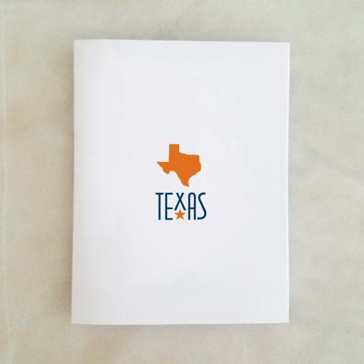 Texas Orange Note Card