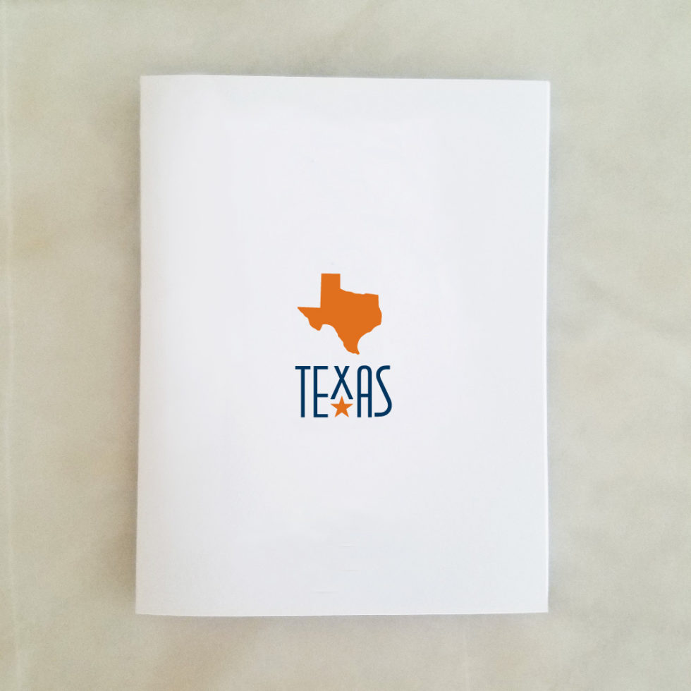 Note Cards - Texas, orange