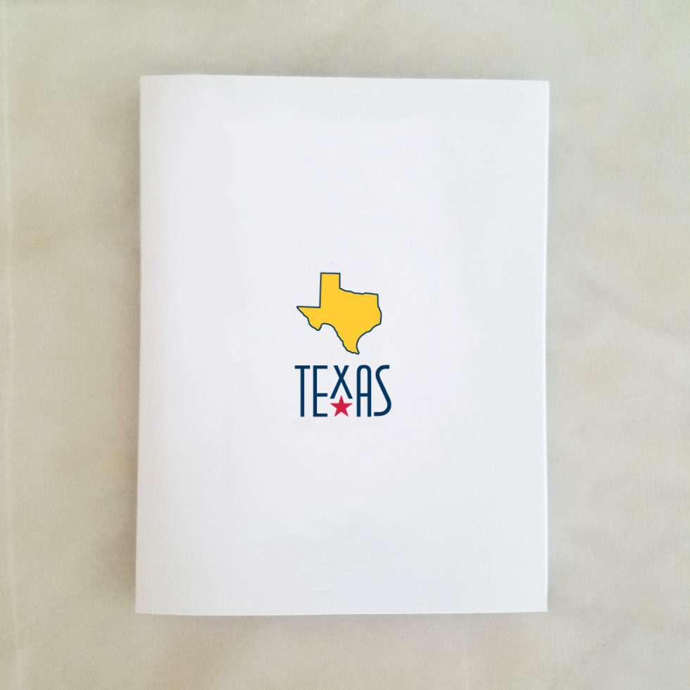 Note Cards - Texas, yellow