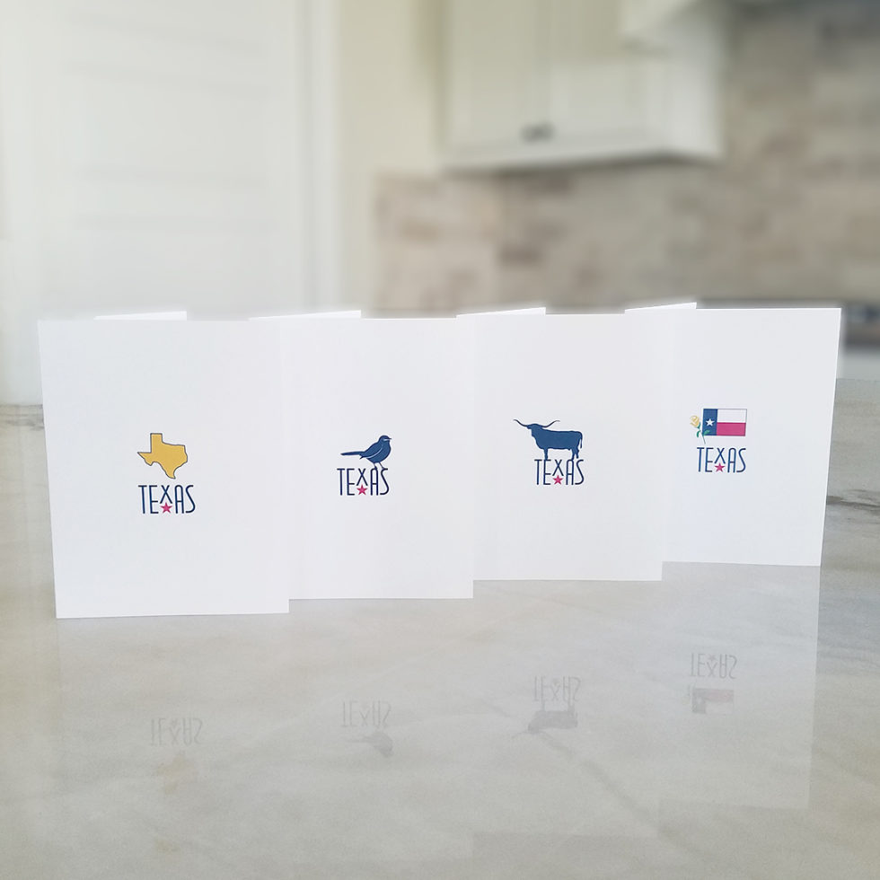 Note Cards - Symbols of Texas