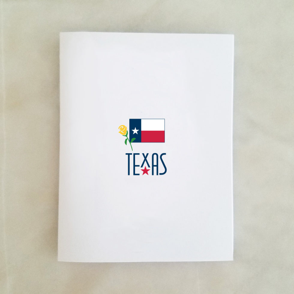 Note Cards - Texas Flag & Yellow Rose