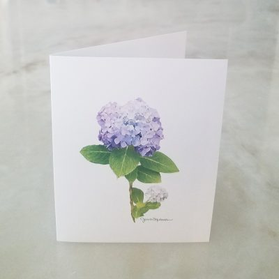 Hydrangeas Purple Note Card