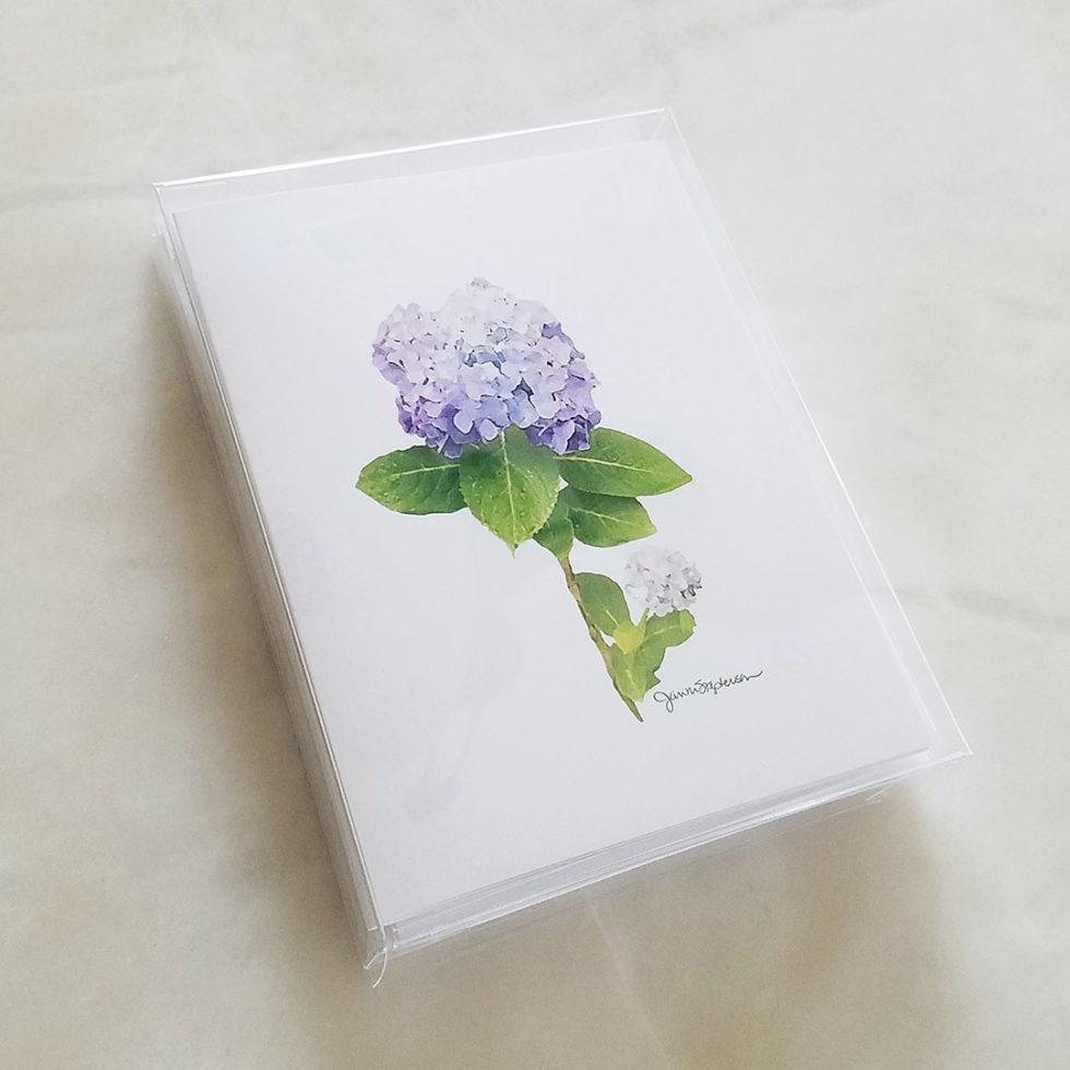 Note Cards - Purple Hydrangeas