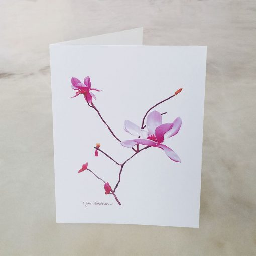 Japanese Magnolia note card