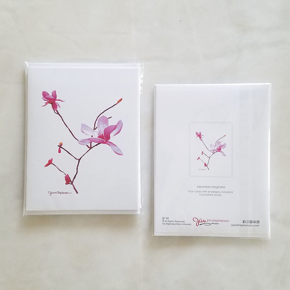 Note Cards - Japanese Magnolia