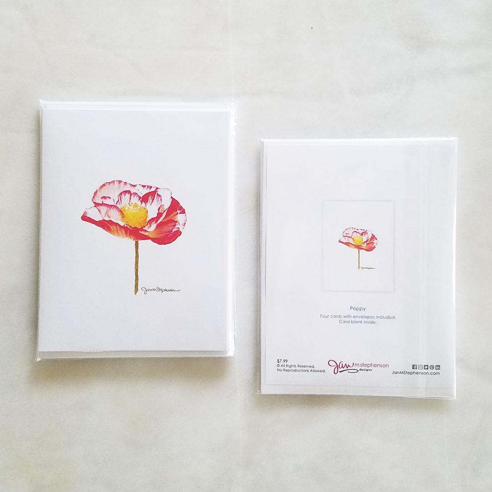 Note Cards - Poppy