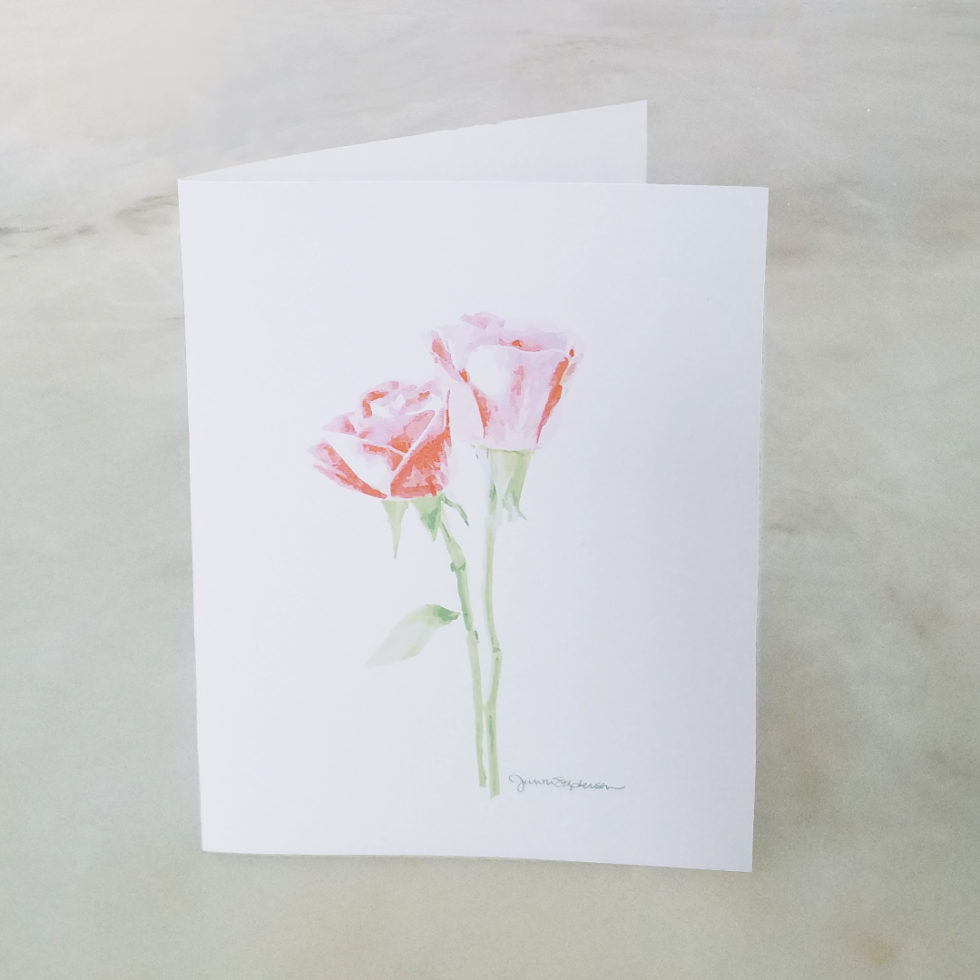 Note Cards - Roses