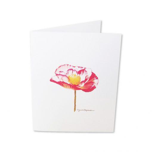Note Cards - Poppy Flower