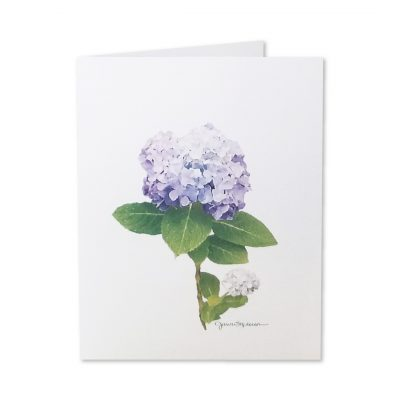 Note Cards - Purple Hydrangeas