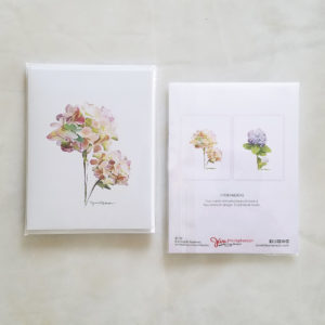Note Cards - Hydrangeas, mixed