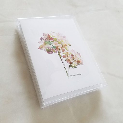 Note Cards - Hydrangeas, mixed